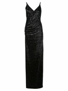 Balmain sequinned long dress - Black