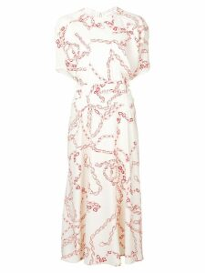 Victoria Beckham chain print dress - White