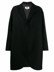 Mm6 Maison Margiela oversized flapped coat - Black