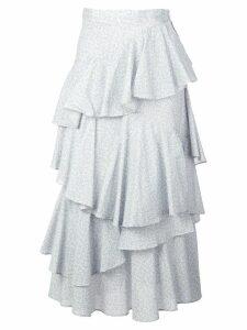 Alexa Chung tiered ruffle skirt - Blue