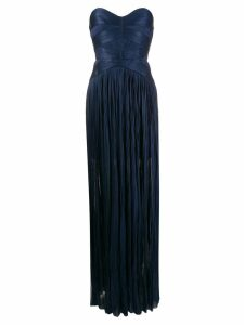 Maria Lucia Hohan Saida corseted plissé dress - Blue