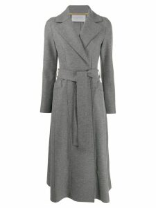 Harris Wharf London belted long coat - Grey