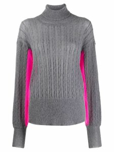 Maison Flaneur colour block jumper - Grey