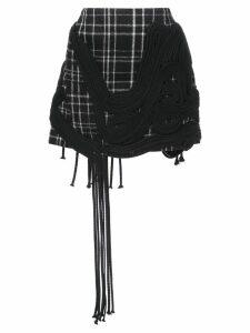 Vera Wang checked mini skirt - Black