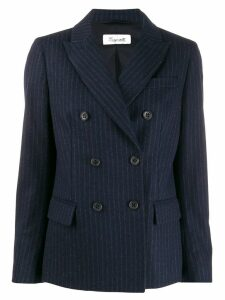 BRAG-WETTE striped double breasted blazer - Blue