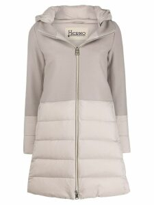 Herno quilted hooded coat - Neutrals