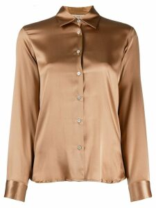 Blanca silk fitted shirt - Brown
