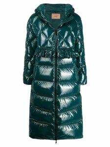Twin-Set padded long coat - Green