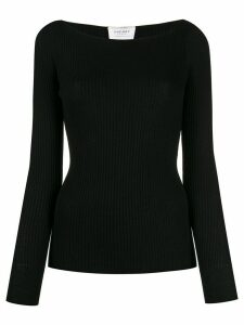 Snobby Sheep boat-neck knit sweater - Black