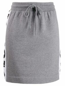 Love Moschino logo print skirt - Grey