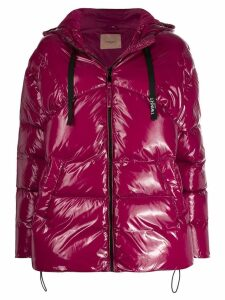 Twin-Set hooded padded jacket - Pink