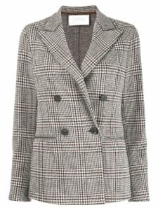Harris Wharf London checked double-breasted blazer - Grey