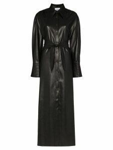 Nanushka Rosana faux-leather shirt dress - Black