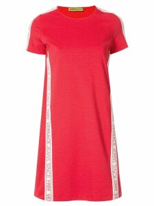 Versace Jeans Couture logo stripe shift dress - Red