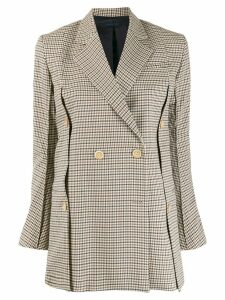 Eudon Choi checked double breasted blazer - Neutrals