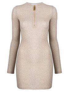 Gcds glitter-embellished mini dress - Neutrals