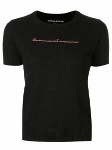 Ermanno Scervino logo print jumper - Black