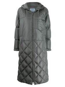 Prada oversized quilted coat - Grey