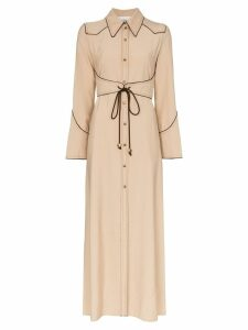 Nanushka Parx midi shirt dress - NEUTRALS