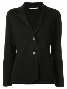 Agnona slim-fit jersey blazer - Black