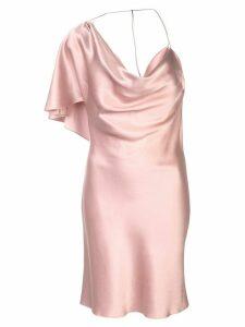 Cushnie one shoulder satin dress - Pink