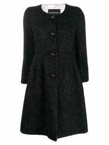 Emporio Armani peplum coat - Black