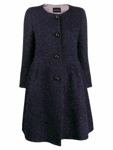 Emporio Armani peplum coat - PURPLE