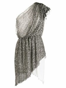 Philosophy Di Lorenzo Serafini leopard print asymmetric dress - Black
