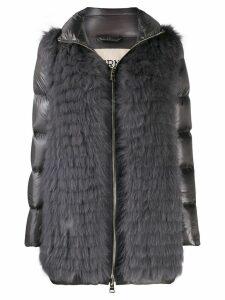 Herno fur fronted padded jacket - Grey