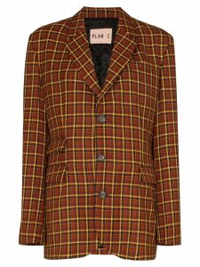Plan C check tailored blazer - Multicolour