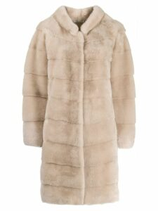 Manzoni 24 layered panels coat - Neutrals