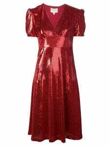 HVN Paula sequin dress - Red