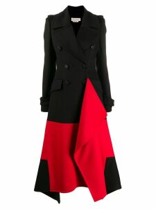 ALEXANDER MCQUEEN double-breasted asymmetric coat - Black