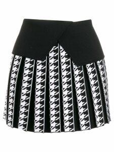 Balmain houndstooth pleated mini skirt - Black