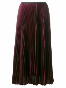 Blanca Vita midi pleated skirt - Red