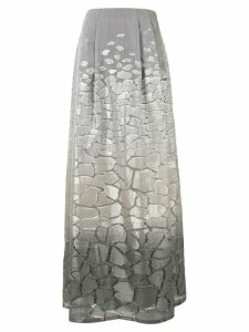 Alberta Ferretti metallic threading a-line skirt - Grey