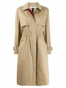 Victoria Beckham cinched waist trench coat - NEUTRALS