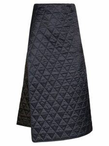Plan C quilted wrap skirt - Black