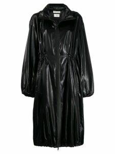 Bottega Veneta hooded soft shell fabric coat - Black