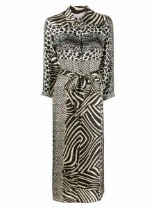 Pierre-Louis Mascia mixed animal print dress - Black
