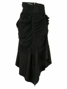 Aganovich asymmetric draped skirt - Black