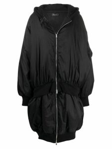 Barbara Bologna oversized zipped coat - Black