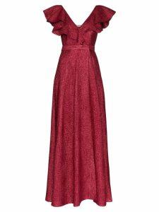 Vika Gazinskaya V-neck ruffle maxi dress - Red