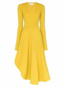 Esteban Cortazar V-neck wrap-front dress - Yellow