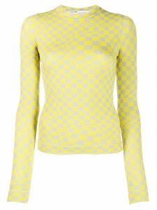 Off-White Bubble Check T-shirt - Yellow