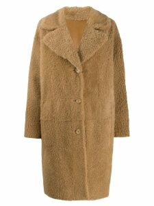 Drome reversible shearling coat - Neutrals