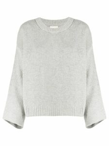 Fine Edge fluted sleeve sweater - Grey