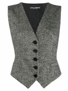 Dolce & Gabbana woven waistcoat - Black