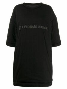 Mm6 Maison Margiela printed logo oversized T-shirt - Black