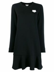 Kenzo Tiger patch knitted dress - Black